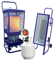 heating objects not the air. These light weight